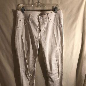 Hudson white denim jeans
